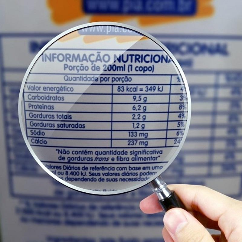 Preste muita atenção às calorias dos alimentos